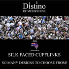 Mens Silk Face Cufflinks by Distino -Individual pairs of mixed cuff link designs
