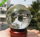ASIAN QUARTZ Clear Crystal Ball Sphere 40mm--150mm +stand AAA