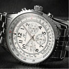 KS Aviator Date Day 24 Hours Stainless Steel Men Automatic Mechanical Watch