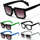 8 Bit Pixelated Wayfarer Sunglasses 2-Tone Assorted Square Party Pixel Shades