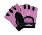 CFF Pink Nylon Mesh Weightlifting Gloves w/Rubber Grip 3 sizes available