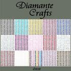 169 x 4mm Diamante Self Adhesive Rhinestone Craft Gems - Choose from 19 Colours