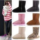 New fashion girls Women Winter Warm Snow Boots Mid Calf Shoes us size 4.5-8