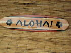 Decorative Wooden ALOHA Surfboard Art Sign  -  5 Sizes Available