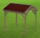 Yard and Garden Gazebo 005 with Gable Roof Building Plans - Perfect for Hot Tubs
