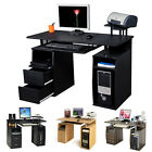 PC Computer desk with drawers Home Office Furniture Workstation Table WHOLESALE