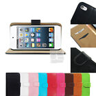F Leather Wallet Skin Case Stand Cover For iPod Touch 5 G 5G 5th Generation Gen