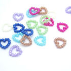 NEW 100pcs 6MM Resin heart Scrapbooking For making phone craft DIY Pick Colors