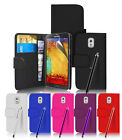 WALLET LEATHER SERIES + STYLUS & SCREEN GUARD FOR  SAMSUNG GALAXY NOTE 3