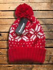 FAIR ISLE BOBBLE HAT new skate winter fashion knitted beanie hype woolly slouch
