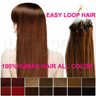 """Micro Bead Ring Tube Loop 100% Human Hair Extensions REMY Straight 100s 16""""-26"""""""