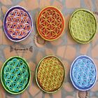 AUFNÄHER PATCH Flower Of Life blume des lebens goa psy indien inde nepal yoga ॐ