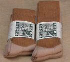 Organic Threads COTTON Crew SOCKS Colorgrown Brown SPECIAL EDITION USA Made