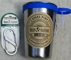 KLEAN KANTEEN PINT w/ ring Stainless Steel 16 oz CUP clean canteen W/ CARABINER