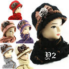 1920 Vintage Style Cloche /knitted/Handmade Hat and Scarf Set B,one size