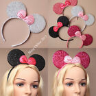 SPARKLE SEQUIN MOUSE EARS HEADBAND HEAD BAND MINNIE FANCY DRESS HEN PARTY NIGHT