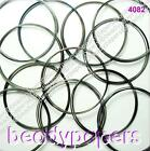 24 - 48 Coils Stainless Steel 0.6mm Memory Wire 12 24 Bracelets 5.5cm Black 4082