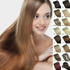 "Full Head 14""-30"" 70g-120g 15 Kinds Colors Clips in Real Human Hair Extensions"