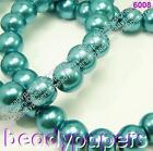 100 - 200 Round Glass Pearl Beads Teal Turquoise Blue 8 mm Jewellery Making 6008