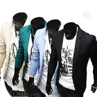 Mens Slim Fit Casual Dress Blazer Coats Suit Jackets (4Colors+US SIZE XS,S,M L)