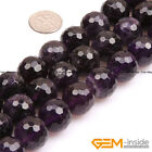 """Natural Round Faceted Amethyst Jewelry Making loose gemstone beads strand 15"""""""