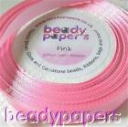 25 yards Silky Satin Ribbon 20 mm 3/4 inch Pretty Pink Fabric Trimmings 22m 5258