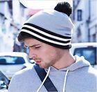 Striped Varsity Beanie Bobble Hat Hipster Wasted Beenie Youth Swag Dope Fresh