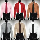 Giorgio Ferraro 6 Colors All Sizes Mens French Cuff Dress Shirt Spread Collar