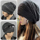 Hot Unisex Women Men Knit Baggy Beanie Beret Winter Warm Oversized Ski Cap Hat
