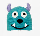 Sully Hat from Monsters Inc, Blue Crochet / Knit Disney Pixar Beanie baby-adult