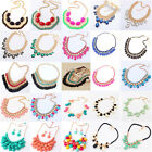 Fashion Mixed Style Bib Statement  Vintage Necklace Jewelry Chunky Collar Party