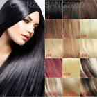 "Free Shipping 14""-30"" 70g 80g 120g Clips in 100% Real Human Hair Extensions"