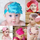 Cute Infant Baby Toddler Feather Flower Diamond Soft Headband Headwear Elastic