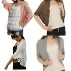 New Ladies Womens Hollow Out Batwing Sleeve Knitted Crochet Cardigan Tops Coat