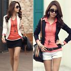 Autumn Fashion Women Long Sleeve Cotton Outerwear Small Jacket Coat Blazer Suits