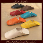 Quality Hand-Made Moroccan Real Leather Slippers / Mules UK3 - UK12