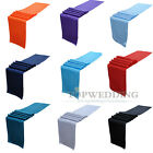 "10PCS 12"" x 108"" Colors Satin Table Runner Party Wedding Decorations Banquet New"