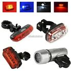 3 Types Waterproof Bicycle Bike Red Safety Rear Tail Lamp Bright Head Light N98B