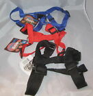 "DOG Harness Medium Red Blue Black Adjustable 12"" - 20"" Nylon 3/4"" NEW"