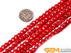 """Natural 6mm Coin Coral Jewelry Making loose gemstone beads strand 15"""""""