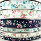 mixed colors elegant flower rose grosgrain ribbon craft sewing U pick 9mm &25mm