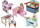 Choose from NEW Childrens Boys Girls Character Study Desk, Wooden Desk Chair