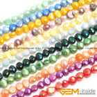 "6-7mm Freeform Freshwater Pearl Stone Beads For Jewelry Making Strand 13"" YB"
