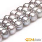 Natural 8-9mm Round Freshwater Pearl Jewelry Making loose gemstone beads 15""