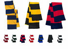 Sportsman Rugby Striped Knit Scarf and Beanie set 14 colors SP01,SP02