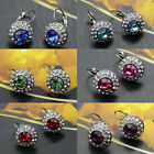 1 Pair Hot Fashion Rhinestones Crystal Clip Dangle Earring Ear Stud  Jewelry New