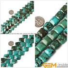 Natural Square Turquoise Jewelry Making loose gemstone beads strand 15""
