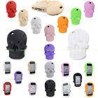 3D Cute Skull Rubber Soft Silicone Gel Back Case Cover For iPhone 4 4S 5 5G 5S