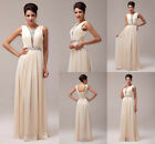 Floor Length Beaded Bridesmaid Wedding Ball Evening Prom Bridal Party Gown Dress