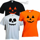 Halloween Skull Pumpkin Fancy Dress Outfit funny tshirt Mens Ladies Kids
